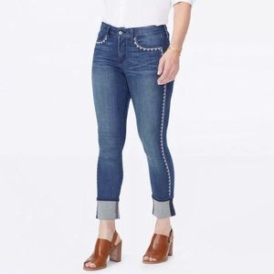 NYDJ | Embroidered Alina Ankle Cuff Denim Jeans